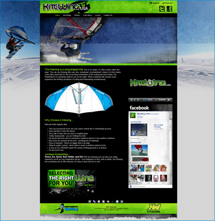 KiteWing USA Website